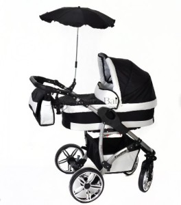 3-in-1-Travel-System-with-Baby-Pram-Car-Seat-Pushchair-Accessories-Black-White-Twing-0-0